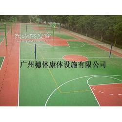 硅PU篮球场材料穗体首选图片