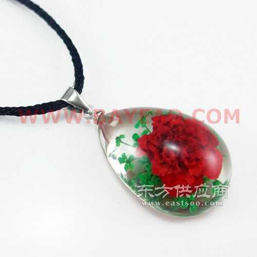 鲜花琥珀项链饰品生产树脂工艺品