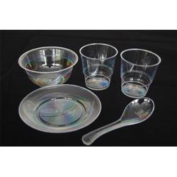 一次性水晶餐具原料,一次性水晶餐具,鸿泽塑业(查看)图片