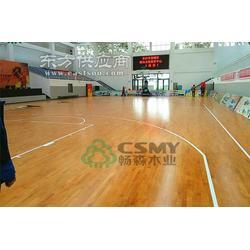 想要享受运动的快乐就要铺设畅森运动木地板 篮球木地板图片