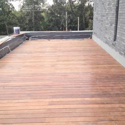 畅森碳化木葡萄架 地板设计施工图片