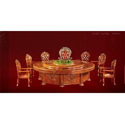 宜春电动餐桌,高档酒店餐桌,古钒五星级酒店餐桌定做图片