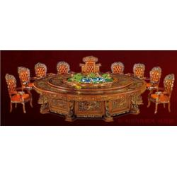 江西电动餐桌、古钒酒店16人餐桌尺寸、大酒店餐桌价图片