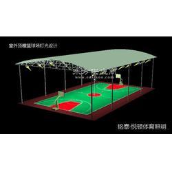 户外篮球场照明灯,带顶棚的篮球场用什么灯图片
