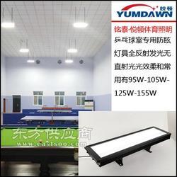 很亮不刺眼的乒乓球照明灯,新建乒乓球室灯具选择问题图片