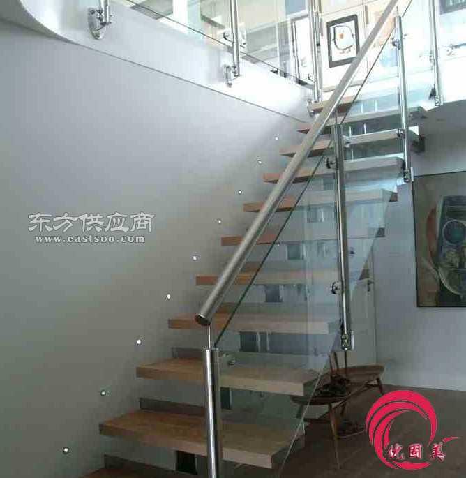 不锈钢楼梯扶手栏杆玻璃栏杆安装图片