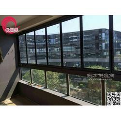 优固美无框阳台窗玻璃封阳台折叠窗可定做图片