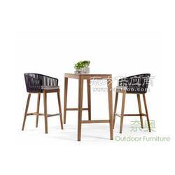 别墅 桌椅/别墅会所休闲实木吧台桌椅图片