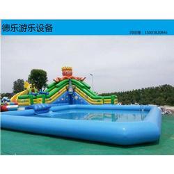 大型水上游樂設備充氣泳池充氣滑梯水上滑梯讓你清涼一夏