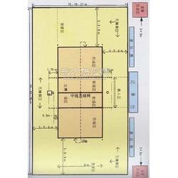 篮球场画线排球场标准尺寸羽毛球场最新标准图片