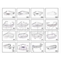 太空铝转三角架两二层置物架篮浴室挂件厂家图片