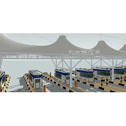 高速收费站遮阳棚景观膜拉膜亭图片