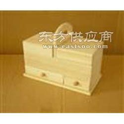 手提精致收纳木盒双开口木制收纳盒曹县宏博木制品图片