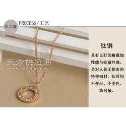 玫瑰金项链 韩版时尚项链 厂家订制图片