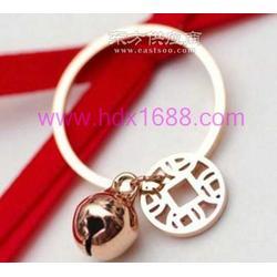 钛钢饰品 饰品厂 钛钢饰品厂 玫瑰金戒指图片