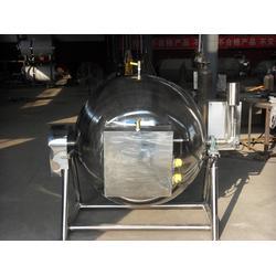 蒸汽加热带搅拌夹层锅,诸城博海机械,浙江带搅拌夹层锅图片