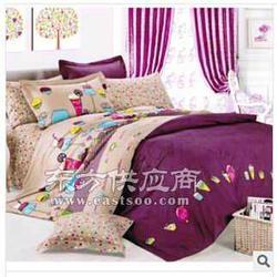 纯棉斜纹印花床品四件套图片