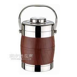奔展2014新款咖啡色保温桶 双层分格不锈钢提锅图片