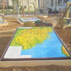 厂家直供 各省地形图模型 地理园配套设施 校园景观雕塑图片