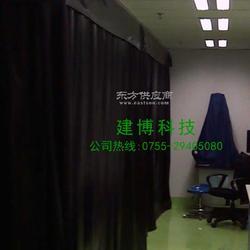 无尘车间 防静电全黑门帘 黑色防静电0.3网格窗帘厂家直销图片