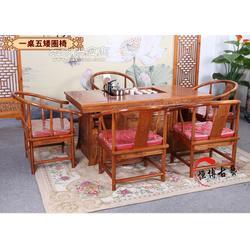 实木茶桌老榆木茶桌功夫茶台茶桌椅组合战国将军台图片