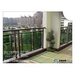阳台玻璃栏杆 铝合金玻璃阳台栏杆图片