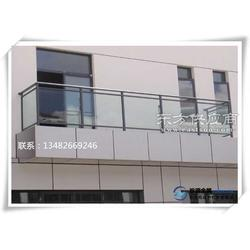 阳台玻璃栏杆 户外防腐玻璃栏杆图片