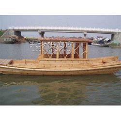 专业供应木制单蓬船 苏航牌小木船图片