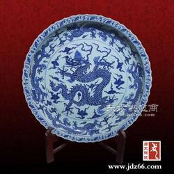 手工制作陶瓷大瓷盘 青花手绘大瓷盘图片