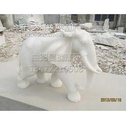 汉白玉石雕大象-曲阳石雕图片