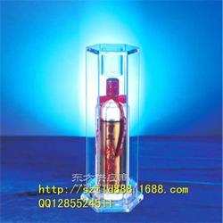 机玻璃酒架厂家LED亚克力名酒专柜展示架图片