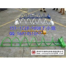 生产自行车停车架厂家,出售螺旋式和卡位式停车架图片