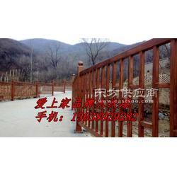 廊架木纹漆施工案例护栏木纹漆工程施工报价图片