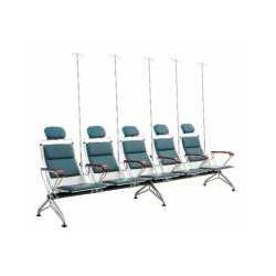 五人位医用输液椅连排吊针椅图片