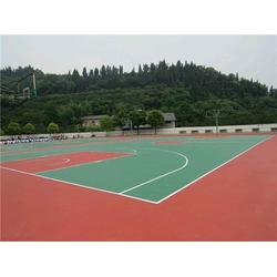 硅PU球场工艺、广州帝森(已认证)、杭州硅PU球场图片