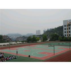 硅PU球场材料施工,广州帝森,长春硅PU球场图片