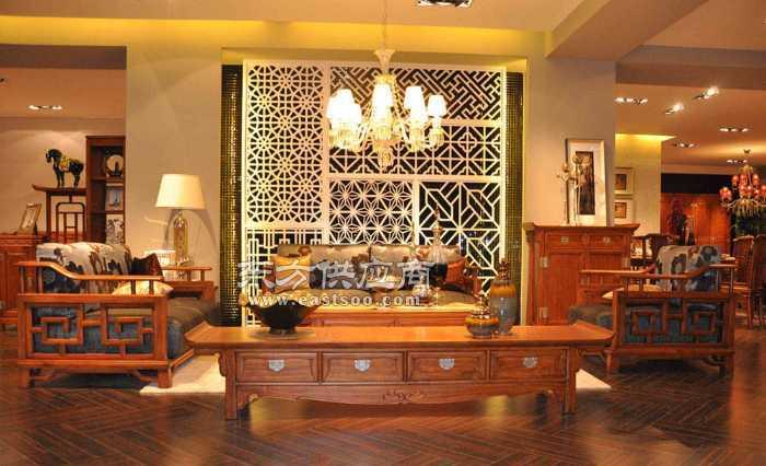 兆冠家居供应中式客厅实木组合沙发价格