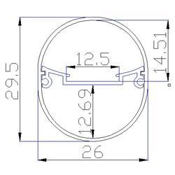 内插铝椭圆塑胶管-惠州椭圆塑胶管-东莞明眸椭圆塑胶管厂家图片
