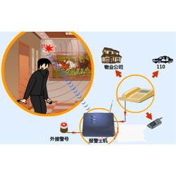 红外报警系统,龙东110联网防盗报警系统 红外感应防盗报警图片