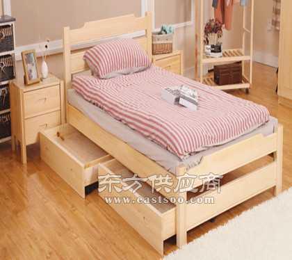 松木家具厂订制松木实木床图片