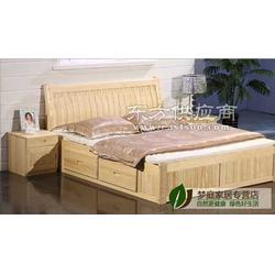 松木家具定制菱形实木床头柜图片