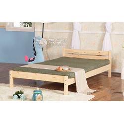 松木家具厂简体实木床图片