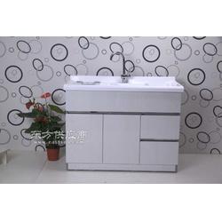 不锈钢淡木纹又双抽左双开洗衣柜图片