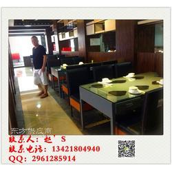 玉锅宴蒸汽火锅店定做海鲜海鲜蒸汽火锅桌带抽屉的厂家图片