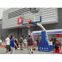 海兴县健步体育器材厂 宽臂仿液压篮球架 篮球架图片