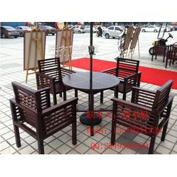 休闲木质桌椅图片