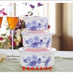 广告促销陶瓷保鲜碗订做厂家图片