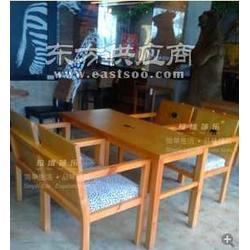 韩式咖啡厅家具咖啡馆家具实木家具图片