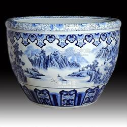 陶瓷金魚缸,園林裝飾大缸,陶瓷大缸廠家圖片