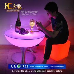 夕彩 LED发光酒吧台高脚桌 时尚夜场酒吧KTV桌椅鸡尾酒桌椅咖啡桌图片